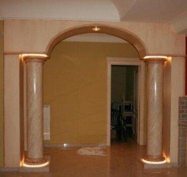 Finti archi e archi bugiardi profili decorativi e for Colonne in polistirolo prezzi